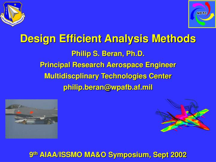 Design Efficient Analysis Methods