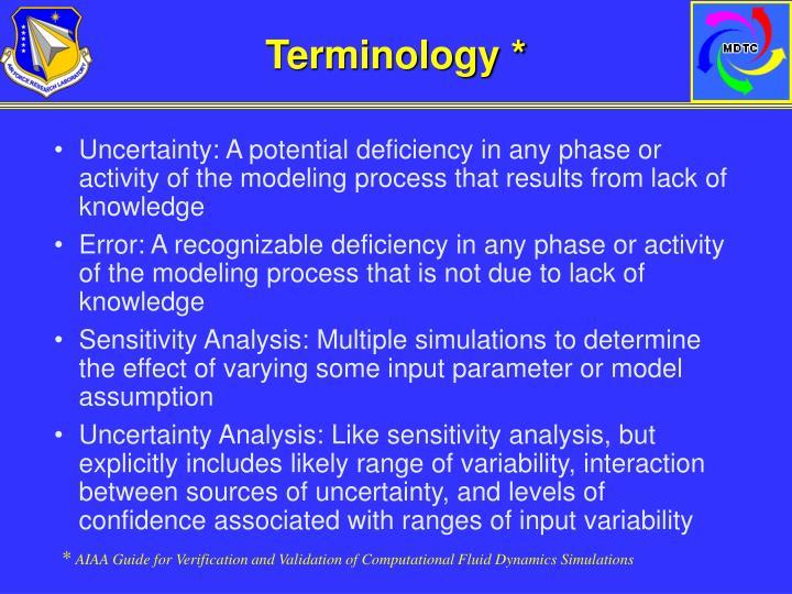 Terminology *