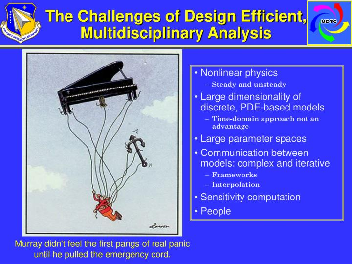 The Challenges of Design Efficient, Multidisciplinary Analysis