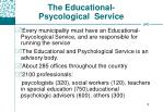 the educational psycological service