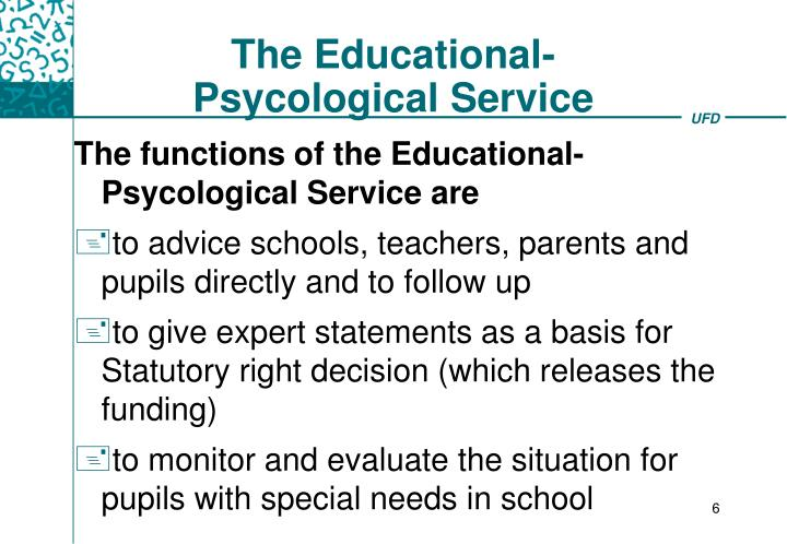 The Educational-Psycological Service
