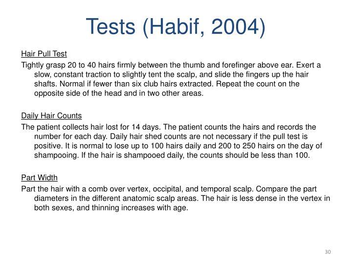 Tests (Habif, 2004)