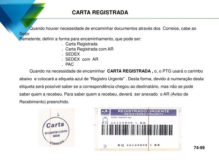 CARTA REGISTRADA
