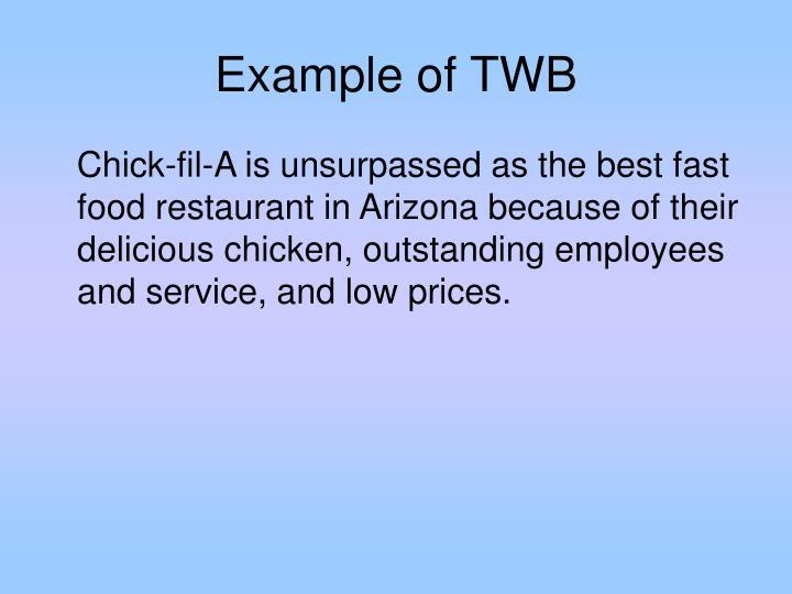 Example of TWB