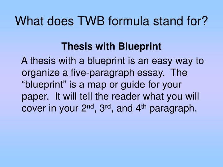 What does TWB formula stand for?
