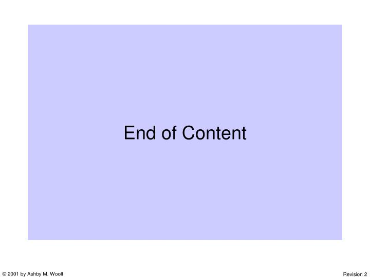 End of Content