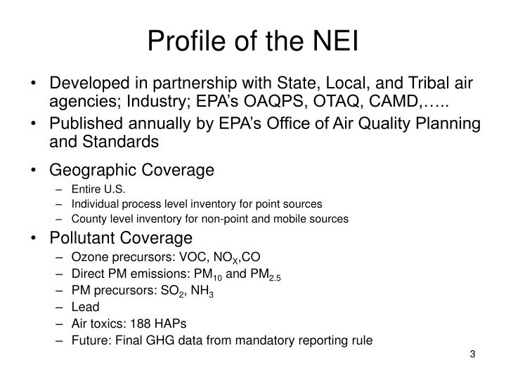 Profile of the nei
