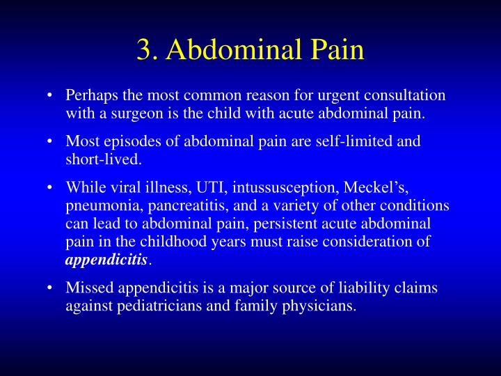 3. Abdominal Pain