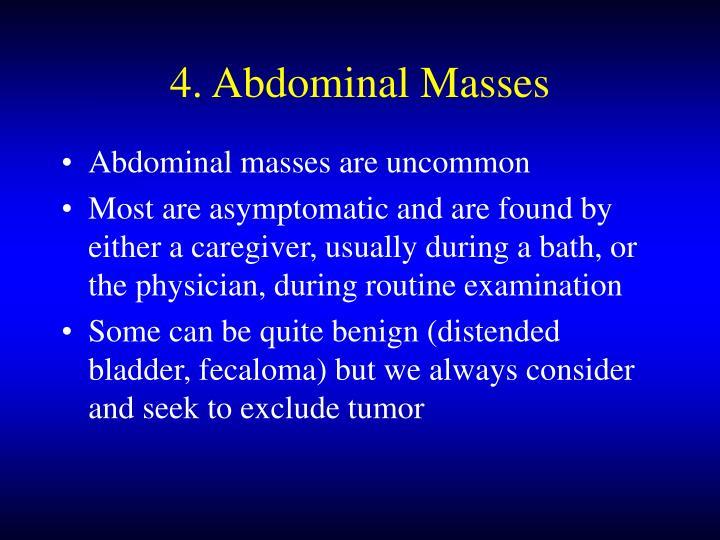 4. Abdominal Masses