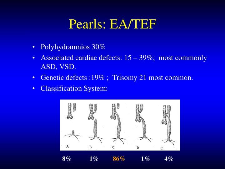 Pearls: EA/TEF