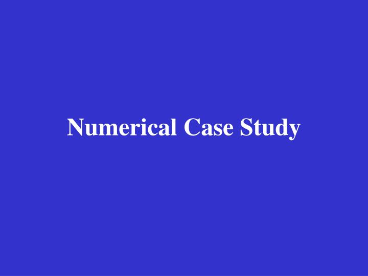 Numerical Case Study