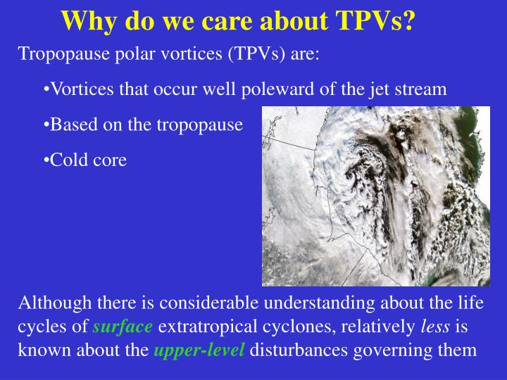 Why do we care about TPVs?