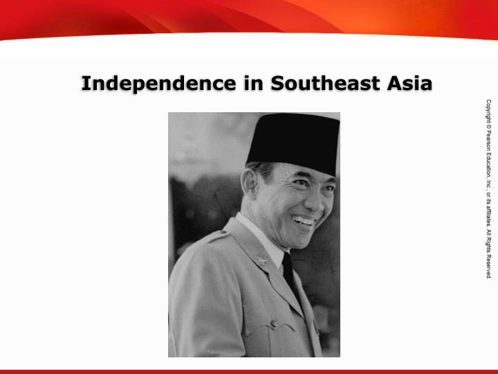 Independence in southeast asia