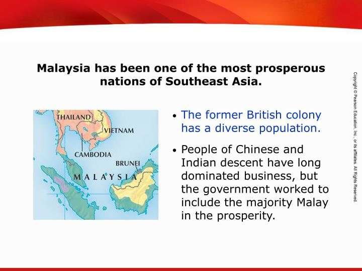 Malaysia has been one of the most prosperous nations of Southeast Asia.