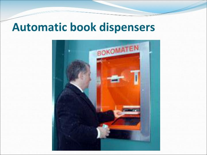 Automatic book dispensers