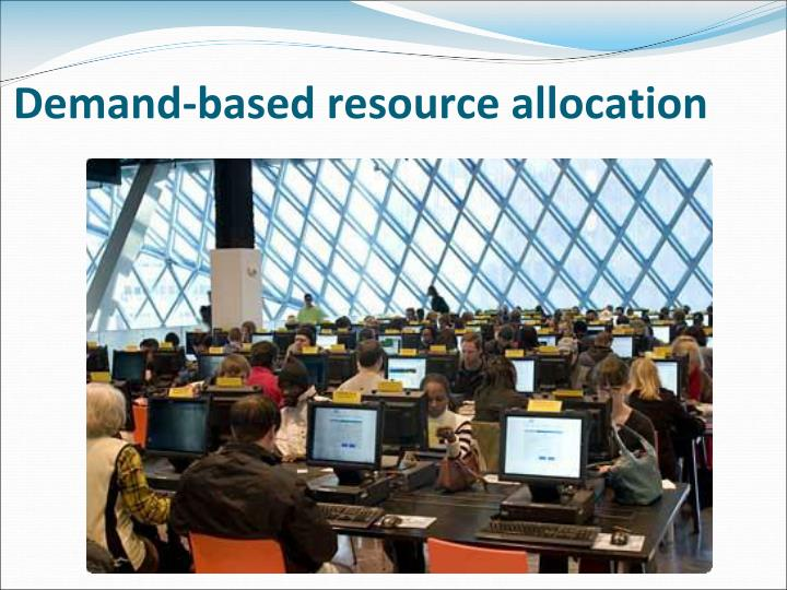 Demand-based resource allocation