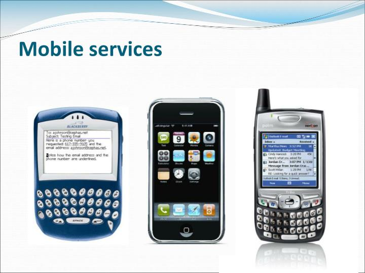 Mobile services