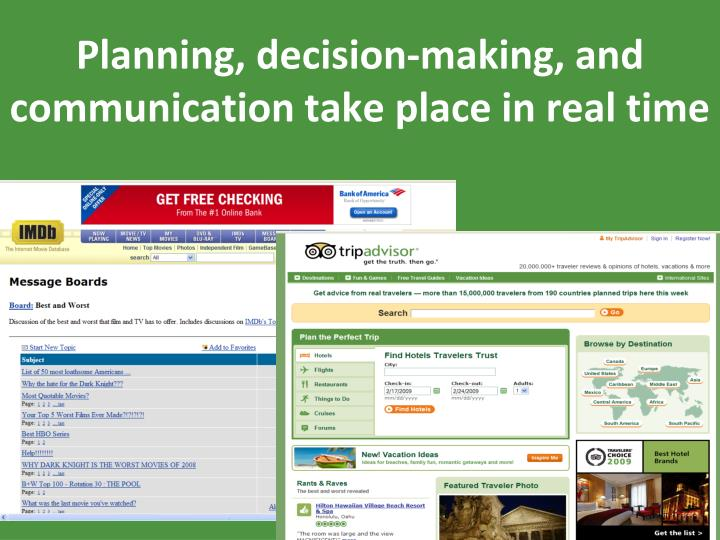 Planning, decision-making, and