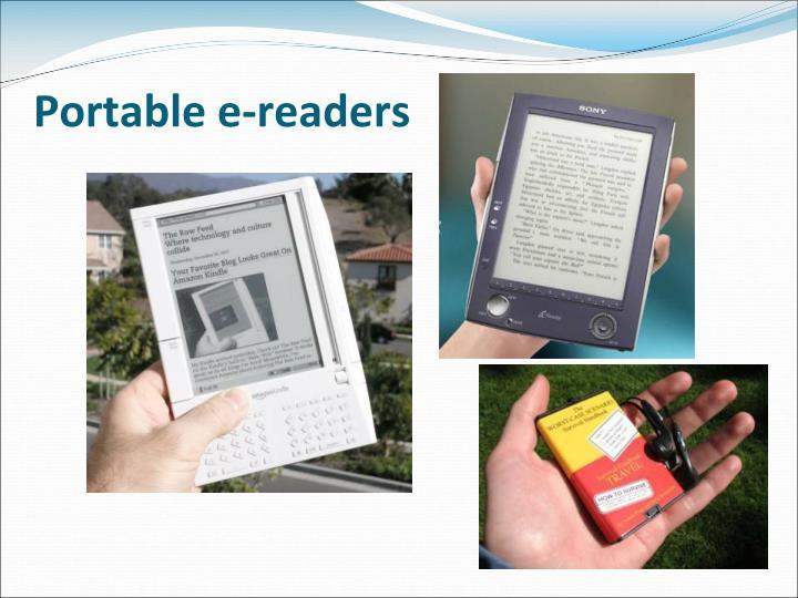 Portable e-readers
