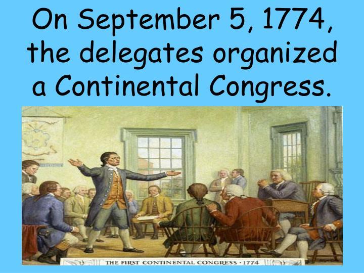 On September 5, 1774,