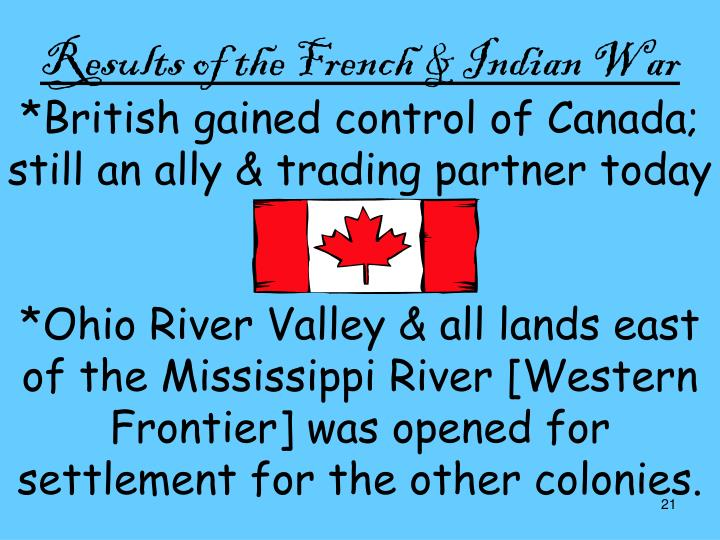 Results of the French & Indian War