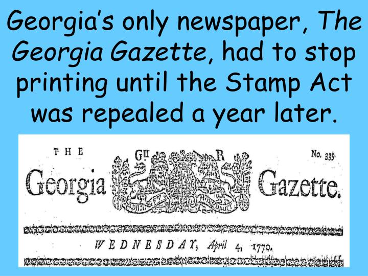 Georgia's only newspaper,