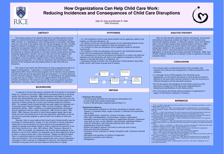 How Organizations Can Help Child Care Work: