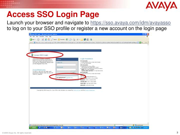 Access SSO Login Page