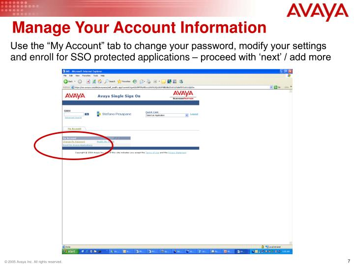 Manage Your Account Information