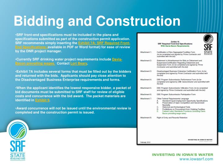 Bidding and Construction