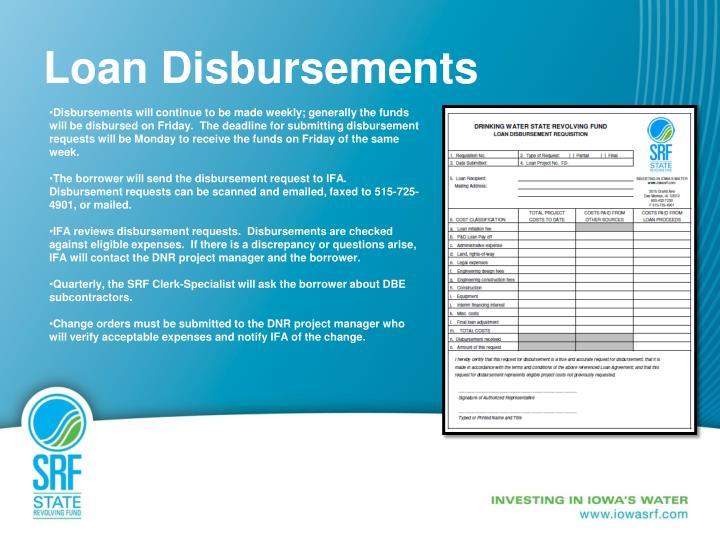 Loan Disbursements