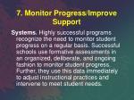 7 monitor progress improve support