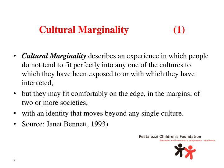 Cultural Marginality(1)