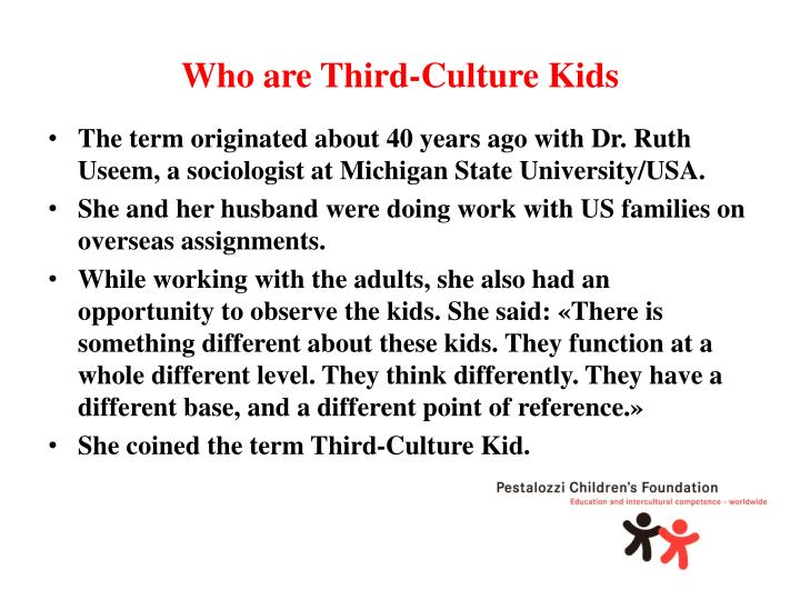 Who are third culture kids