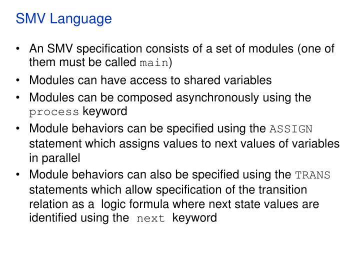 SMV Language