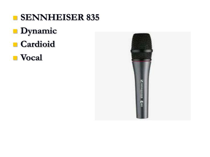 SENNHEISER 835