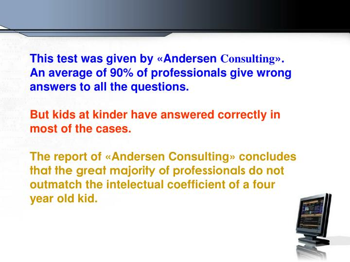This test was given by «Andersen