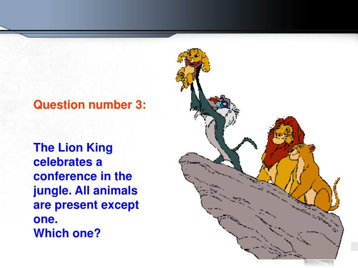 Question number 3: