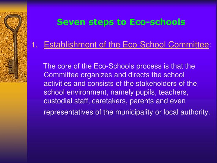 Seven steps to Eco-schools