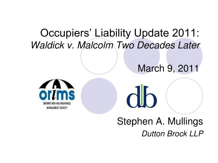occupiers liability from the common law essay