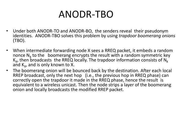 ANODR-TBO