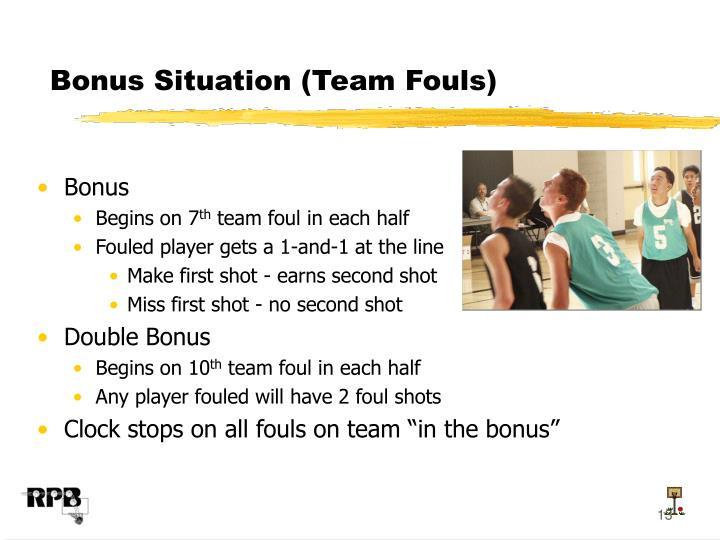 Bonus Situation (Team Fouls)