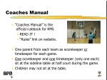 coaches manual