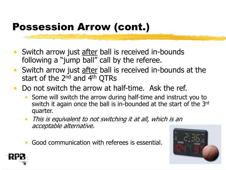 Possession Arrow (cont.)