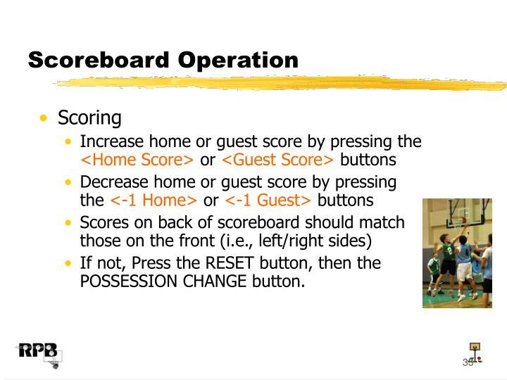 Scoreboard Operation