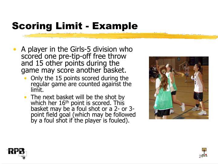 Scoring Limit - Example