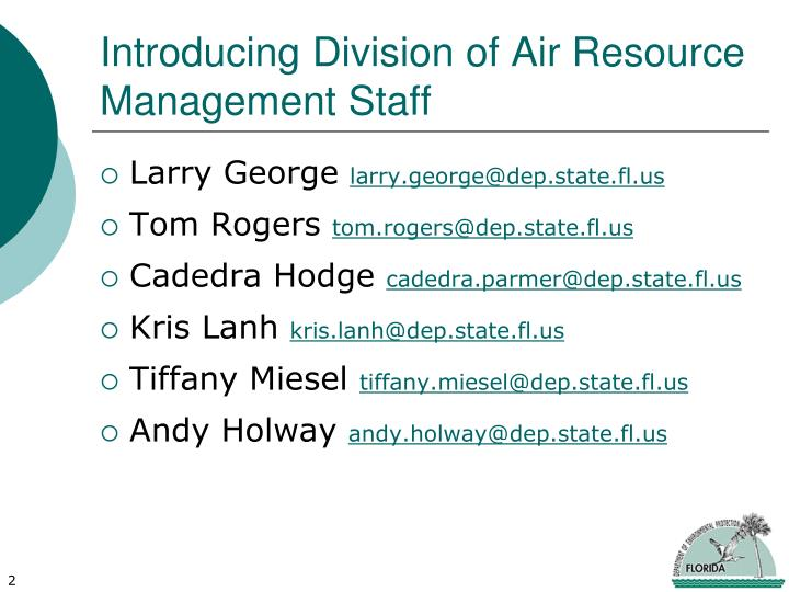 Introducing division of air resource management staff
