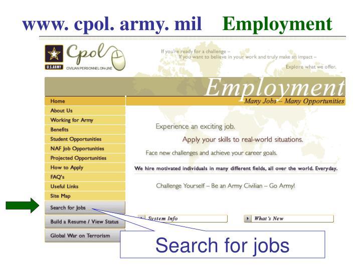 www. cpol. army. mil