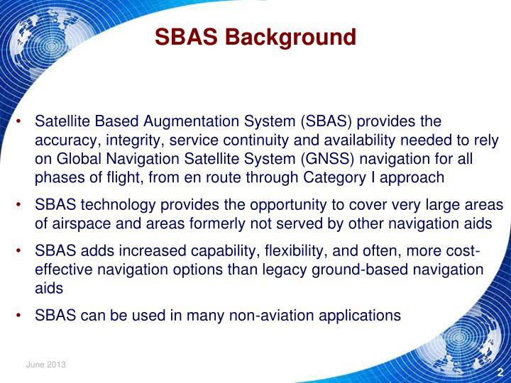SBAS Background