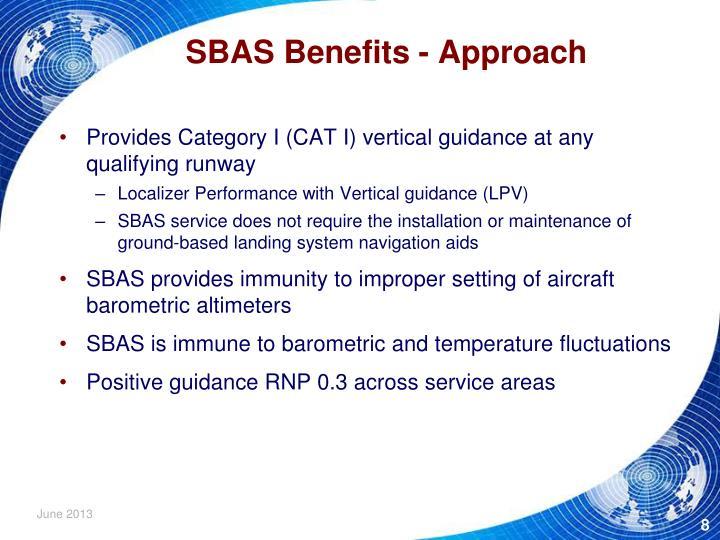SBAS Benefits - Approach